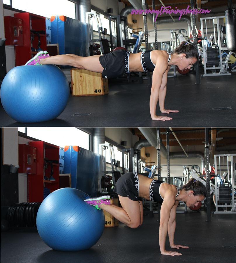 ejercicios abdominales fitball equilibrio fuerza