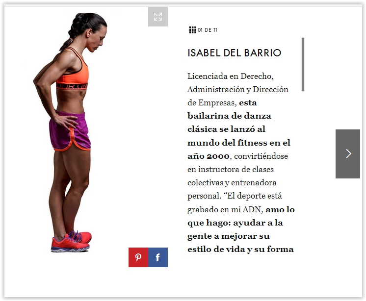isabel del barrio prensa revista elle influencer fitness