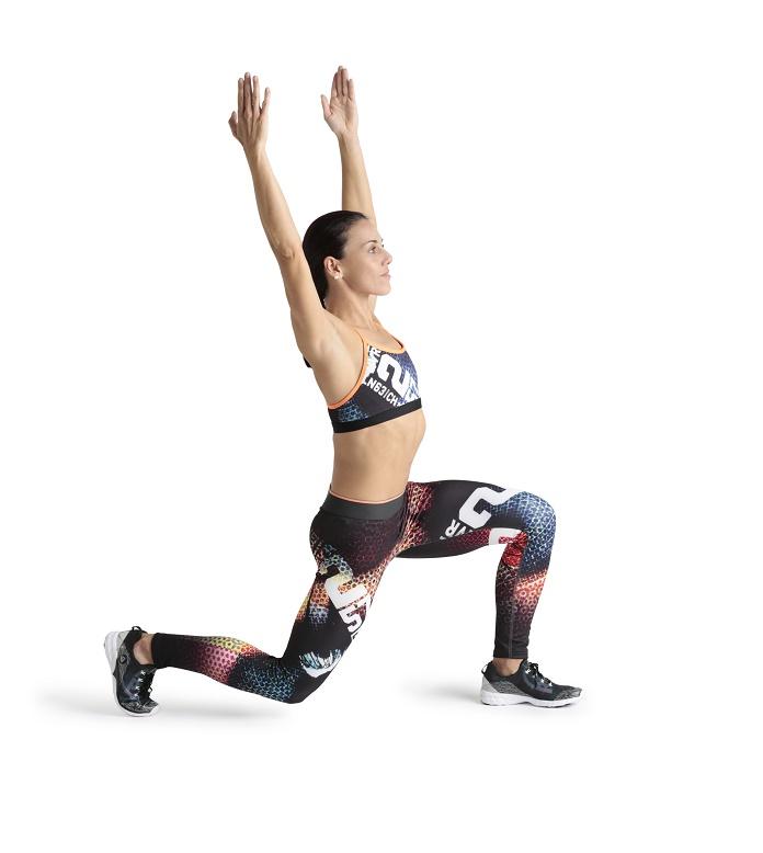 zancada atras lunge entrenamiento funcional isabel del barrio onmytrainingshoes reebok estiramiento dinamico training
