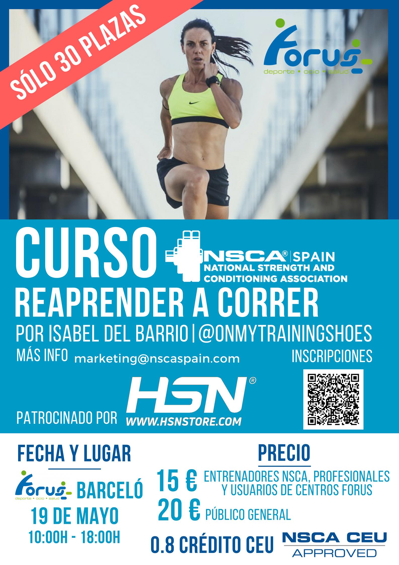 workshop corredores aprender a correr taller técnica de carrera biomecánica de carrera nuca Spain isabel del barrio