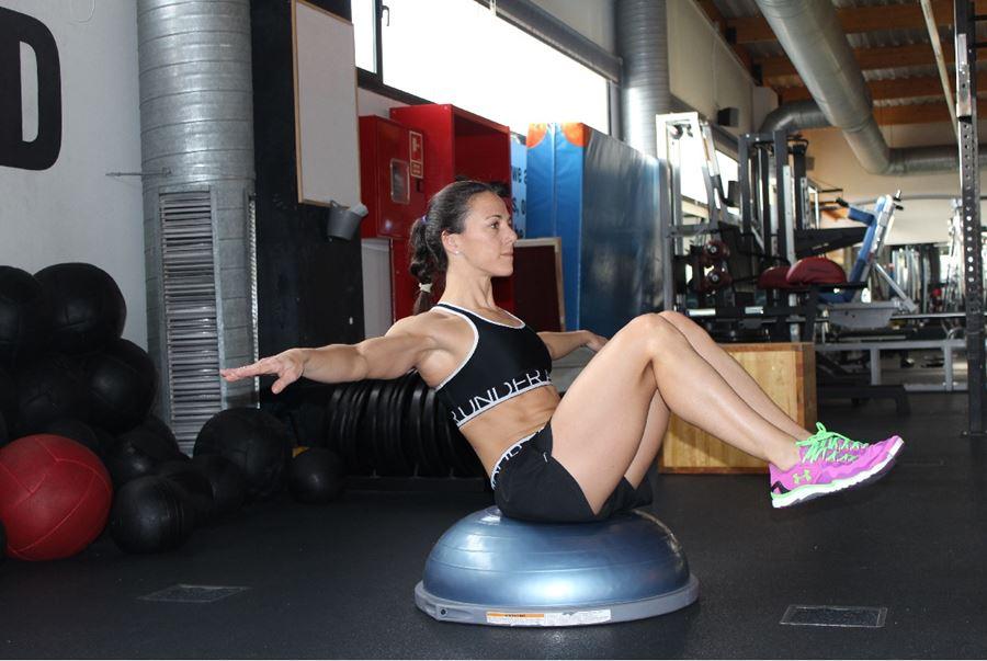 activacion abdominales ejercicios bosu equilibrio