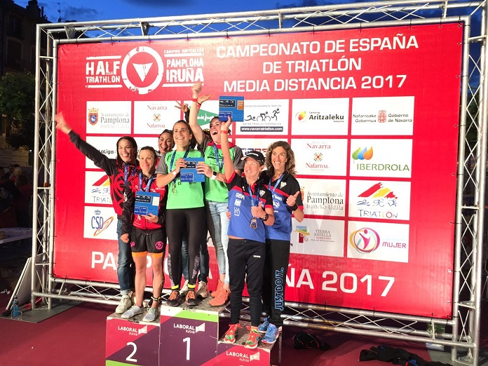 isabel del barrio triatlon claveria de mosoles campeonato de españa triatlon media distancia pamplona