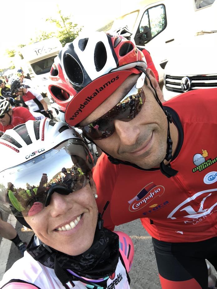 la quebrantahuesos Isabel del barrio cicloturismo marcha cicloturista ciclismo onmytrainingshoes cycling routes AVITUALLAMIENTO MARIE BLANQUE